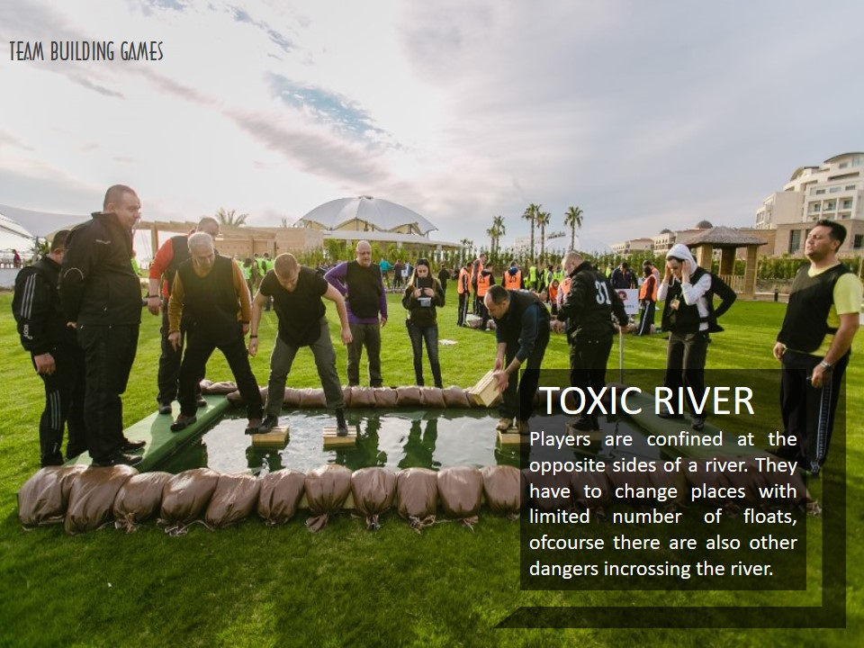 TEAM-BUILDING-GAMES, TOXIC-RIVER